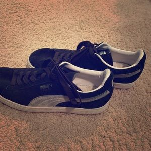 Puma Men's Black Suede Shoes